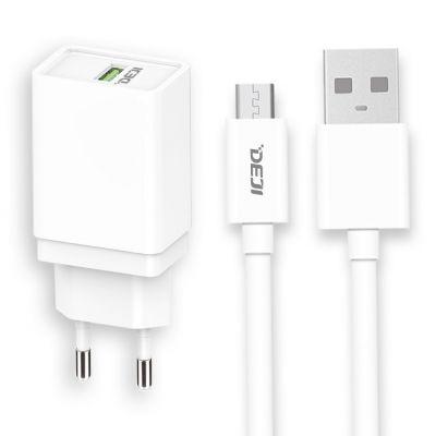 Deji Micro USB Hızlı Şarj Aleti QC 2.0 + Usb Kablo Beyaz