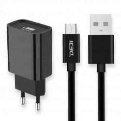 Deji Micro USB Şarj Aleti 2.1A + Usb Kablo Siyah - Thumbnail