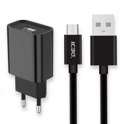 Deji Micro USB Şarj Aleti 2.1A + Usb Kablo Siyah